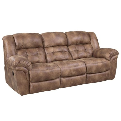 HomeStretch Frontier Power Reclining Sofa in Almond