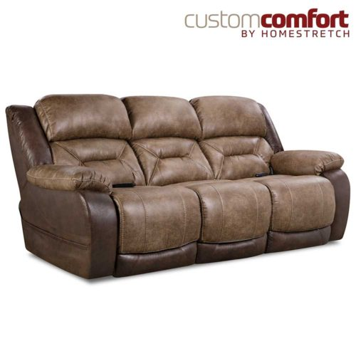 HomeStretch Lone Star Power Sofa with Power Headrest and Power Lumbar Foot Extension