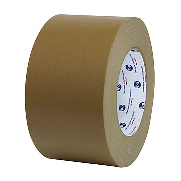 "Intertape 1"" x 60 yds. Flatback Tape, Brown, 36 Roll"