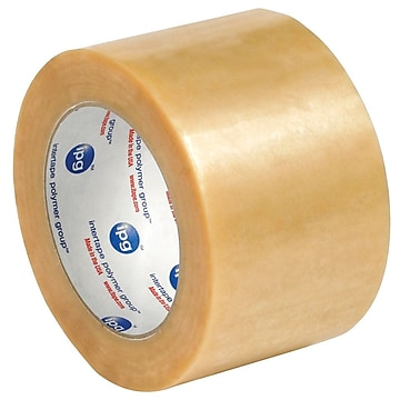 """Intertape 3"""" x 110 yds. x 2.2 mil #530 Carton Sealing Tape, Clear, 6/Pack,Size: large"""