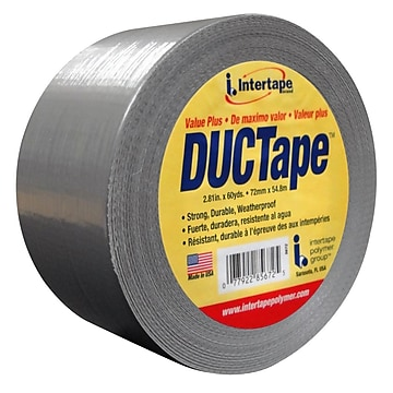 "Intertape Fix-It AC15 7 mil Utility Duct Tape, 1.87"" x 60 yds., Silver, 3 Roll"