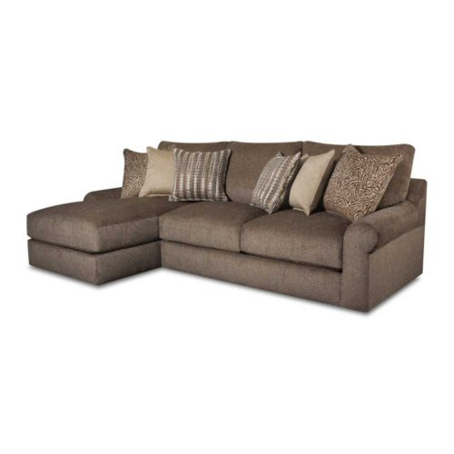 Lane Home Furnishings Luxe Seating Bellamy Left Arm Facing Chaise Sofa in Cocoa