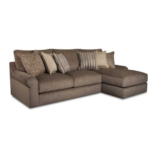 Lane Home Furnishings Luxe Seating Bellamy Right Arm Facing Chaise Sofa in Cocoa