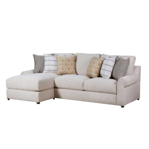 Lane Home Furnishings Luxe Seating Pompeii Left Arm Facing Chaise Sofa in Snow