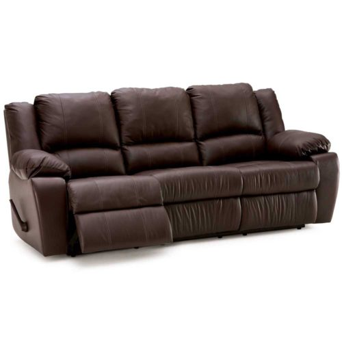 Palliser Leather Delaney Reclining Sofa with Table