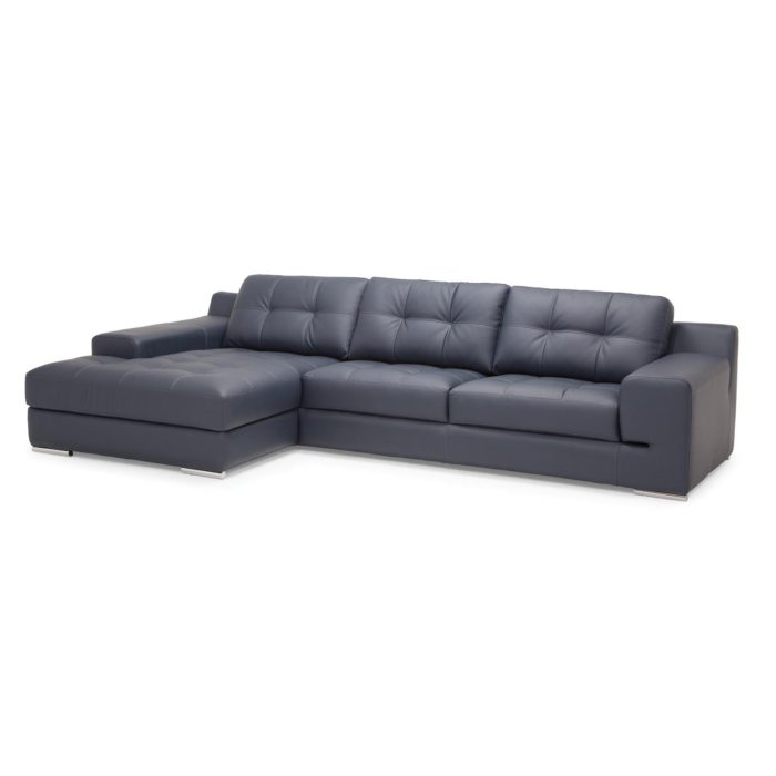 Terrific Palliser Regal 3 Seat Sectional With Left Hand Facing Chaise In Dillon Thunder Squirreltailoven Fun Painted Chair Ideas Images Squirreltailovenorg