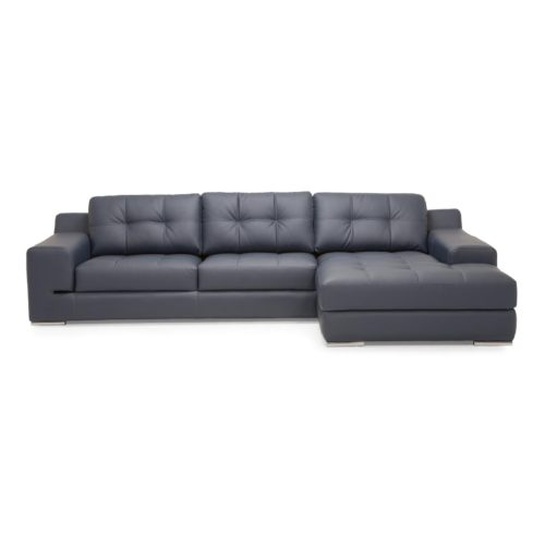 Palliser Regal 3 Seat Sectional with Right Hand Facing Chaise in Dillon Thunder
