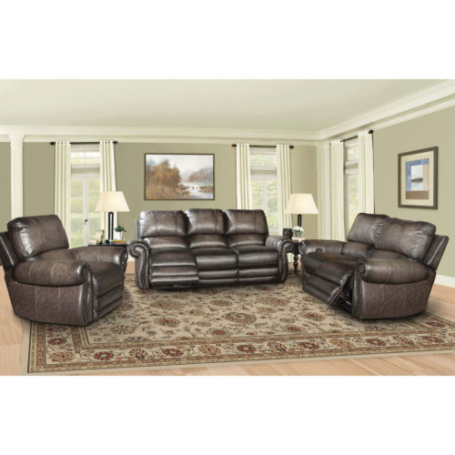 Parker Living Prestige Thurston Dual Power Recliner Sofa in Shadow