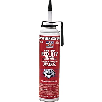 Permatex Red Non-Sag Paste High Temperature RTV Silicone Gasket Maker, 3 Oz. Tube,Size: med