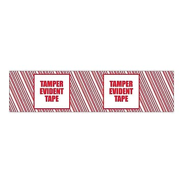 "SI Products Security Tape, 2"" x 110 Yds., Red/White, 6/Pack (155RCP),Size: l"