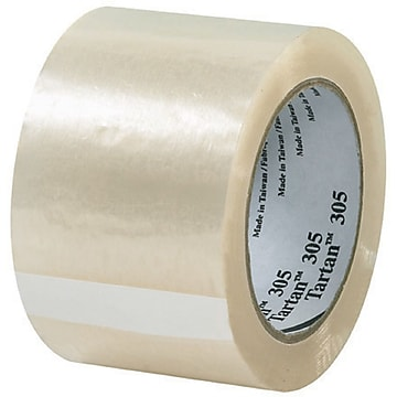 "Scotch #305 Acrylic Packing Tape, 3""x110 yds., 24/Case"