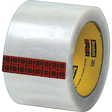 "Scotch #355 Hot Melt Packing Tape, 3""W x 55 Yards, Clear, 24 Pack (T905355)"