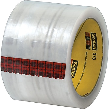 "Scotch #373 Hot Melt Packing Tape, 3""x55 yds., Clear, 24/Case"
