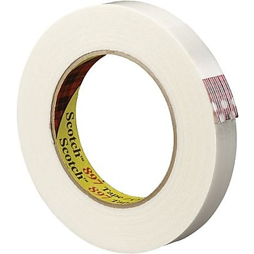 "Scotch #897 Medium Grade Filament Tape, 1/2"" x 60 yds., 24/Case"