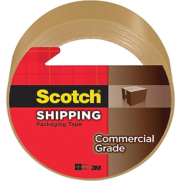 """Scotch Commercial Grade Shipping Packing Tape, 1.88""""W x 54.6 Yards, Tan (3750T)"""