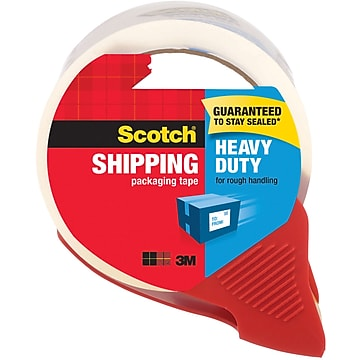 """Scotch Heavy Duty Shipping Packaging Tape, 1.88"""" x 38.2 yds., Clear (3850S-RD)"""
