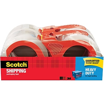 """Scotch Heavy Duty Shipping Packing Tape, 1.88""""W x 54.6 Yards, Clear, 4 Rolls (3850-4RD)"""