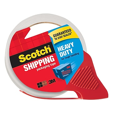 """Scotch Heavy Duty Shipping Packing Tape with Dispenser, 1.88""""W x 54.6 Yards, Clear (3850-RD)"""