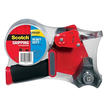 """Scotch Heavy Duty Shipping Packing Tape with Dispenser,1.88""""W x 54.6 yds., Clear (3850-ST)"""