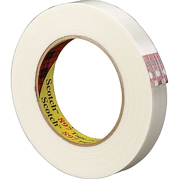 "Scotch Medium Grade Filament Tape, 0.47"" x 60 yds., 72 Rolls (897)"