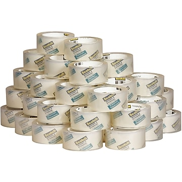 """Scotch Premium Thickness Moving & Storage Packing Tape, 1.88"""" x 60 yds., Clear, 36 Rolls/Case (3631-54-CS36)"""