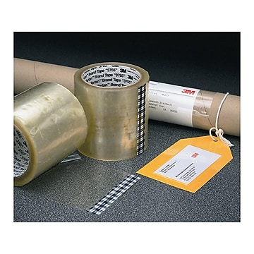 """Scotch Tartan Label Protection Packing Tape, 4"""" x 145 Yds., Clear, 12/Carton (T9943765)"""