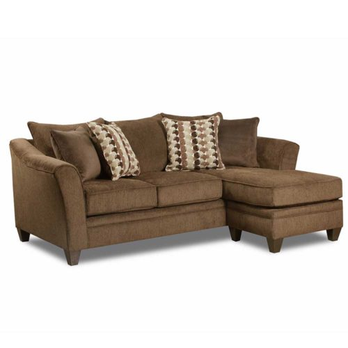 Simmons Upholstery by Lane Home Furnishings Albany Chestnut Sofa Chaise
