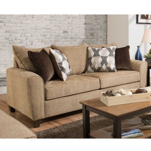 Simmons Upholstery by Lane Home Furnishings Reed Tan Queen Sleeper Sofa