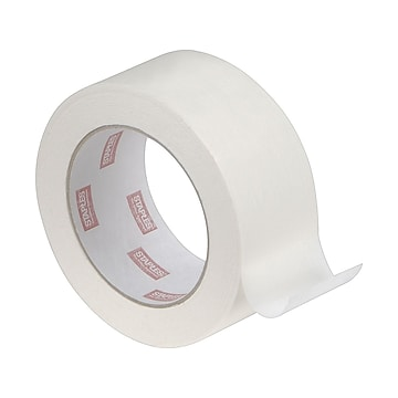 "Staples Masking Tape, 1.89"" x 60 yds., Natural, 2/Pack (468405-CC),Size: small"