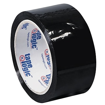 "Tape Logic 2"" x 55 yds. x 2.2 mil Carton Sealing Tape, Black, 6/Pk"