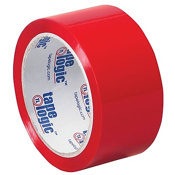 "Tape Logic 2"" x 55 yds. x 2.2 mil Carton Sealing Tape, Red, 6/Pk"