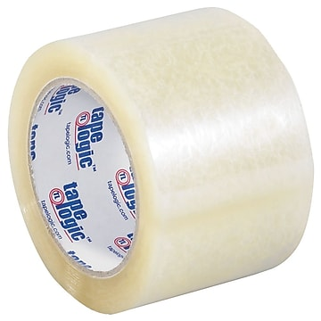 "Tape Logic 3"" x 55 yds. x 3.5 mil Carton Sealing Tape, Clear, 6/Pk"