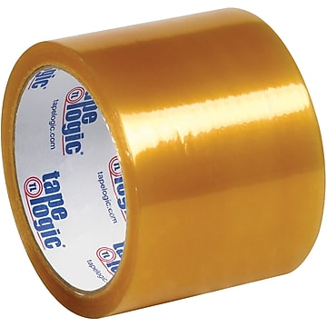 "Tape Logic #53 PVC Natural Rubber Tape, 2.1 Mil, 3"" x 55 yds., Clear, 24/Case,Size: large"
