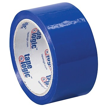 "Tape Logic Carton Sealing Tape, 2.2 Mil, 2"" x 55 yds., Blue, 18/Case (T90122B18PK)"