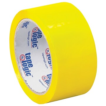 "Tape Logic Carton Sealing Tape, 2.2 Mil, 2"" x 55 yds., Yellow, 18/Case (T90122Y18PK)"