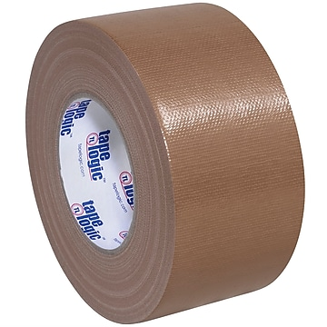 "Tape Logic™ 10 mil Duct Tape, 3"" x 60 yds, Brown, 3/Carton"