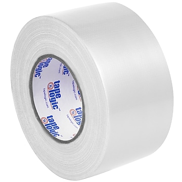"Tape Logic™ 10 mil Duct Tape, 3"" x 60 yds, White, 3/Pack"