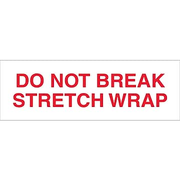 "Tape Logic™ 2"" x 110 yds. Pre Printed ""Do Not Break Stretch Wrap"" Carton Sealing Tape, 18/Pack"