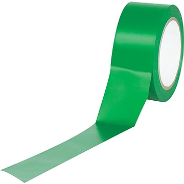 "Tape Logic™ 2"" x 36 yds. Solid Vinyl Safety Tape, Green, 3/Pack"