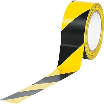 "Tape Logic™ 2"" x 36 yds. Striped Vinyl Safety Tape, Black/Yellow, 3/Pack"