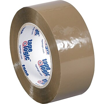 "Tape Logic™ 2"" x 55 yds. Acrylic Tape, Tan, 36/Case"