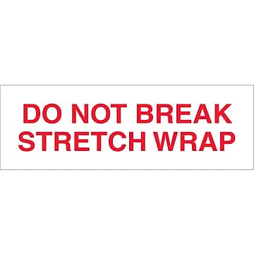 "Tape Logic™ 2"" x 55 yds. Pre Printed ""Do Not Break Stretch Wrap"" Carton Sealing Tape, 36/Case"