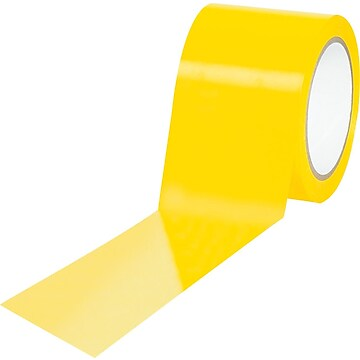 """Tape Logic™ 3"""" x 36 yds. Solid Vinyl Safety Tape, Yellow, 3/Pack"""