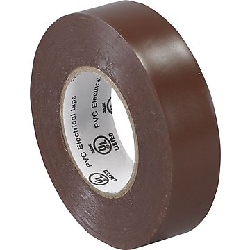"Tape Logic™ 3/4""(W) x 20 yds(L) Vinyl Electrical Tape, Brown, 10/Pack"