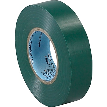 "Tape Logic™ 3/4""(W) x 20 yds(L) Vinyl Electrical Tape, Green, 10/Pack"