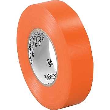 "Tape Logic™ 3/4""(W) x 20 yds(L) Vinyl Electrical Tape, Orange, 10/Pack"