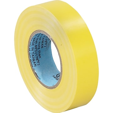 "Tape Logic™ 3/4""(W) x 20 yds(L) Vinyl Electrical Tape, Yellow, 10/Pack"
