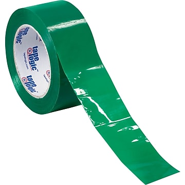 "Tape Logic™ 3""W x 55 Yards Green Carton Sealing Tape, Pack of 6 (T90522G6PK)"