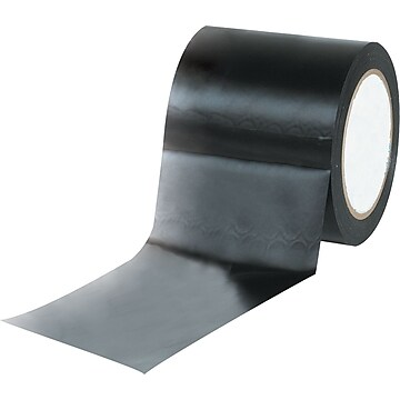 "Tape Logic™ 4"" x 36 yds. Solid Vinyl Safety Tape, Black, 3/Pack"