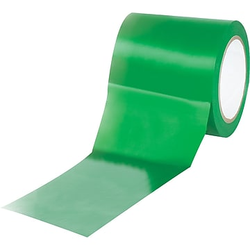 "Tape Logic™ 4"" x 36 yds. Solid Vinyl Safety Tape, Green, 3/Pack"